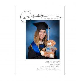 Signature Graduation Announcement